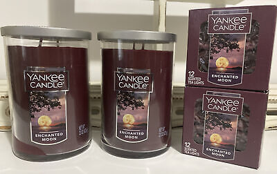 YANKEE CANDLE ENCHANTED MOON Lot of 4 Free Shipping!