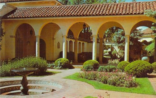 NM PHILMONT SCOUT RANCH Villa Philmonte Patio BOY SCOUTS OF AMERICA postcard BS5