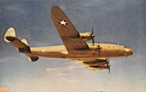 LOCKHEED CONSTELLATION~FASTER THAN A JAP ZERO POSTCARD
