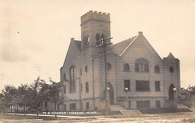 For sale Wadena Minnesota~United Methodist Episcopal Church~Neighborhood RPPC c1913