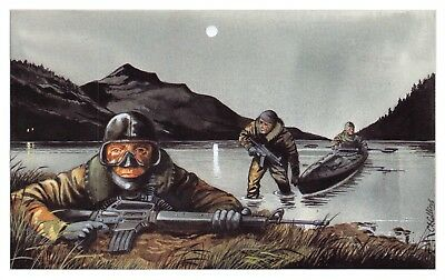 Postcard The Royal Marines, Special Boat Service by Geoff White