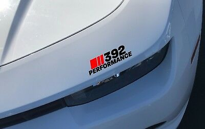 392 Performance Headlight Decal Dodge Challenger Charger HEMI SRT Red and Black