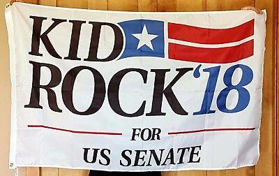 Kid Rock for US Senate 18 flag rock&roll banner man cave flag Huge 3x5ft RV Boat