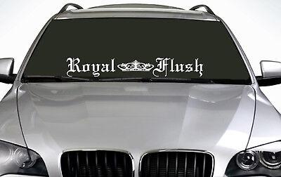 90cm Royal Flush (02) ANY COLOUR Windscreen Sticker EUR Driftcar Vinyl Decal JDM