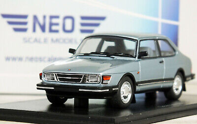 "1:43 NEO Scale Model ""1985 SAAB 90"" (Metallic Light Blue) #43674 RARE 18 Turbo"