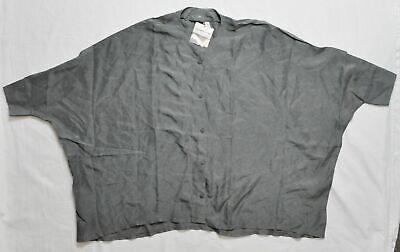 Women's PUMA by HUSSEIN CHALAYAN UM Silk Shirt Sedona Sage size S $138
