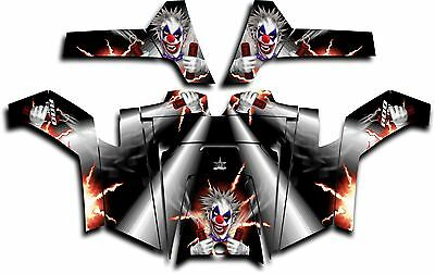 Polaris RZR 800 UTV Graphics Decal Kit Wrap 2011 - 2014 Pyro The Clown White