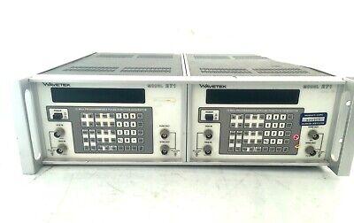 Wavetek Model 271 Pulse Generator Dual Rack Mount Combo Tested