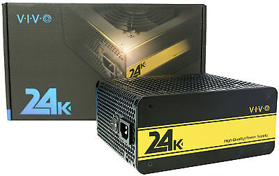VIVO 24K 650W 80+ GOLD PC Computer ATX Desktop Fully Modular Power Supply