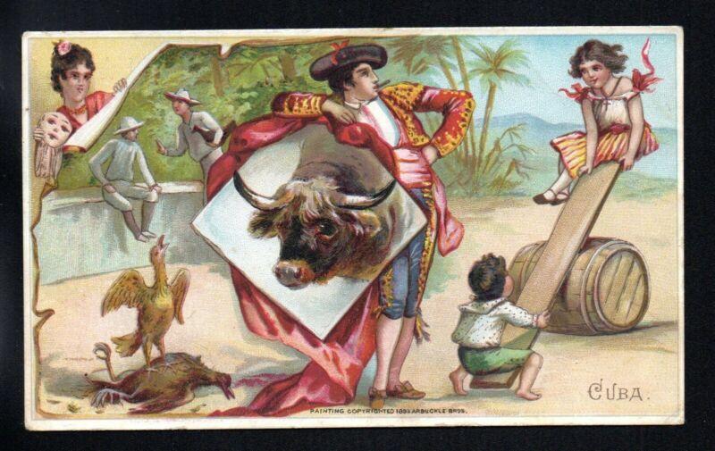 CUBA ARBUCKLE COFFEE HIST SPORTS PASTIMES #29 1880