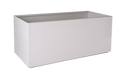 White Red Black Gray Rectangular Trough Metal Planter Box Extra Large Aluminum