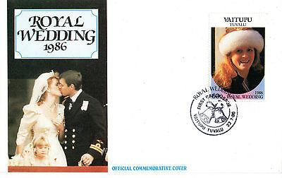 TUVALU VAITUPU 23 JULY 1986 ROYAL WEDDING 60c FIRST DAY COVER SHS