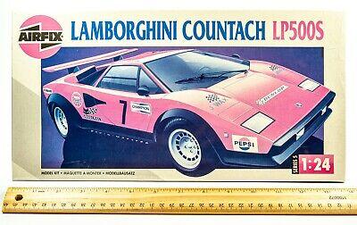 Vintage AIRFIX Lamborghini Countach LP500S 1:24 Scale Model Kit ~ 30 Yrs Old!