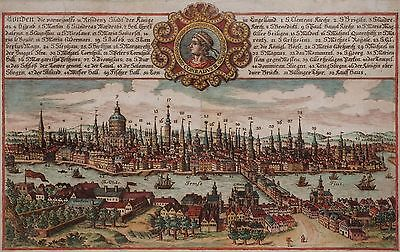 London - Gesamtansicht aus Sächsischem Postillon - Rarer Kupferstich 1790 - View