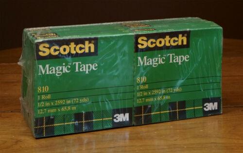 "Scotch Pop-Up Magic Tape Strips Refills 12 Big Rolls 72 Yards #810 1/2"" X 2592"""