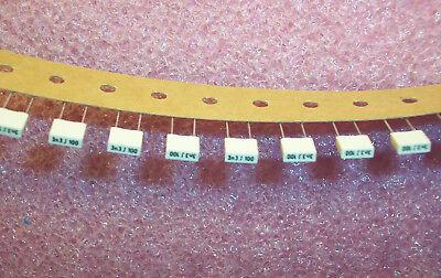 Qty 100 3300pf 100v 5 Metallized Box Film Capacitors R85ec1330j Arcotronics