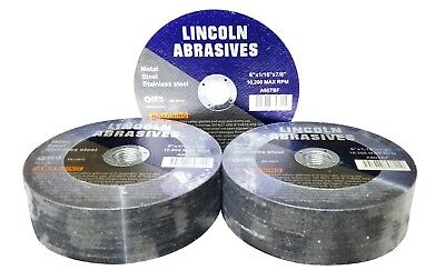 50 Pc 6 X 116 X 78 Cut Off Wheels Stainless Steel Metal Cutting Discs