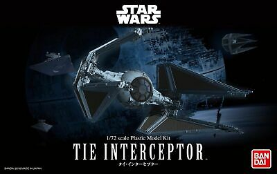 Bandai Hobby Star Wars Tie Interceptor 1/72 Scale Model Kit Return of the Jedi ()