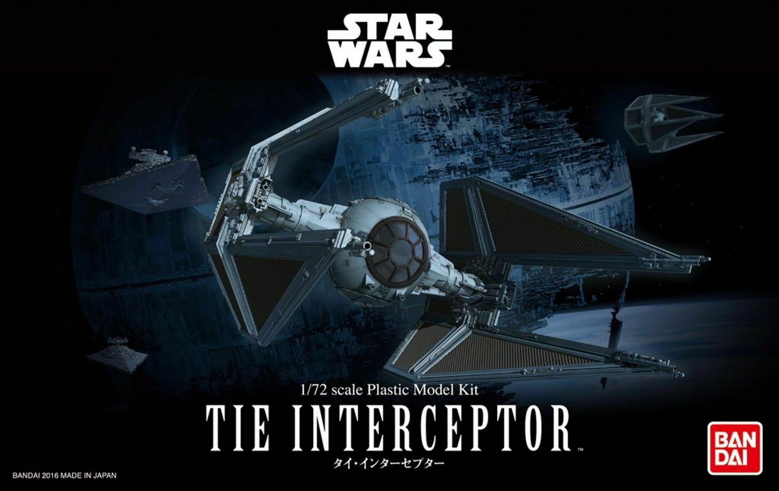 BAN208099 Bandai Star Wars 1//72 Tie Interceptor