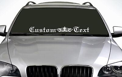 90cm Custom Text (02) ANY COLOUR Windscreen Sticker EUR Drift Car Vinyl Decal