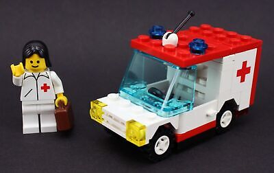 LEGO Set 6523 Red Cross Van Paramedic Hospital Medic 911 EMT Town City Vintage