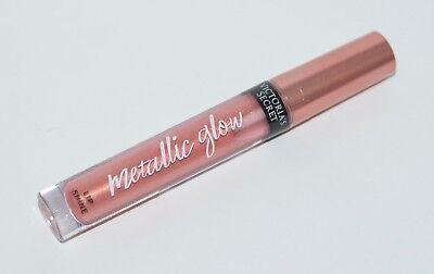 Nuevo VICTORIA'S Secret Rosa Metálicas Doradas Glow Brillo de Labios Bálsamo