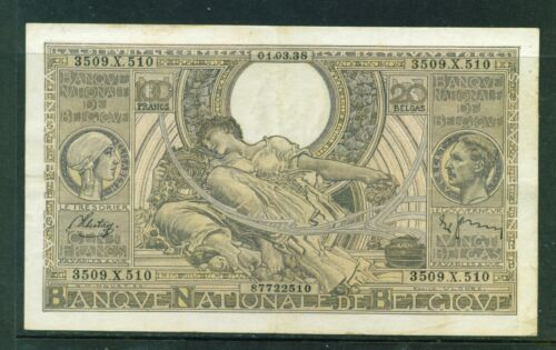 BELGIUM - 1938 100 Francs Sontag and Janssen Circulated Banknote