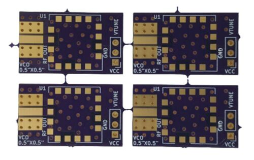 """Qty.4 Development Evaluation Boards (PCBs) for VCO in 0.5""""x0.5"""" SMT Package"""
