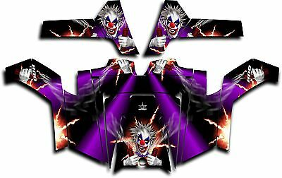 Polaris RZR 800 UTV Graphics Decal Kit Wrap 2011 - 2014 Pyro The Clown Purple