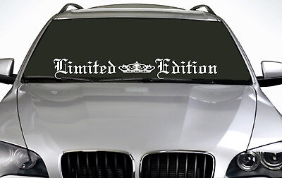 90cm Limited Edition (02) ANY COLOUR Windscreen Sticker EUR Driftcar Vinyl Decal