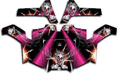 Polaris RZR 800 UTV Graphics Decal Kit Wrap 2011 - 2014 Pyro The Clown Pink