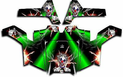 Polaris RZR 800 UTV Graphics Decal Kit Wrap 2011 - 2014 Pyro The Clown Green
