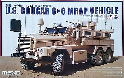 MENG MODEL SS-005 U.S. Cougar 6x6 MRAP Vehicle in 1:35