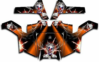 Polaris RZR 800 UTV Graphics Decal Kit Wrap 2011 - 2014 Pyro The Clown Orange
