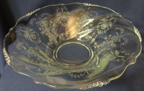 """Orchid Crystal Bowl 12.5"""" Heisey Glass Company"""