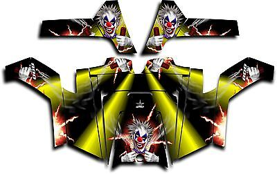 Polaris RZR 800 UTV Graphics Decal Kit Wrap 2011 - 2014 Pyro The Clown Yellow