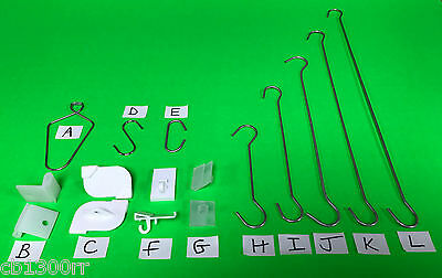 Suspended Ceiling Grid Hangers Clips Hooks Twist Wire POS Hanging Sign Display
