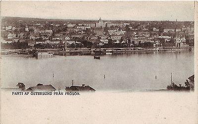 Sweden Ostersund Östersund fran Froson Frösön unused undivided back postcard