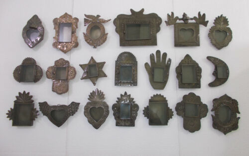 Set of 20 PUNCHED TIN NICHOS handmade mexican folk art southwester wholesale lot