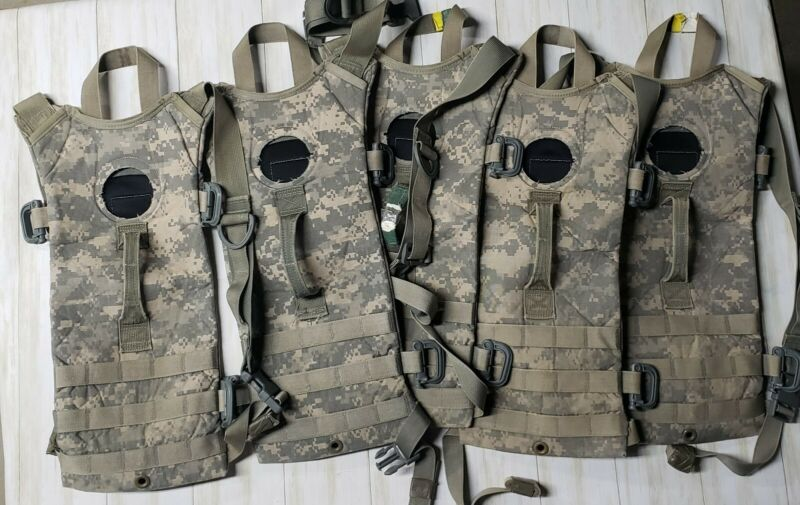 LOT OF 5 US Army Digital Camo ACU Hydration System Cameback