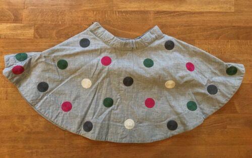 Janie and Jack Gray Polka Dot Adjustable Waist Skirt Baby Girls Sz 18 to 24 M