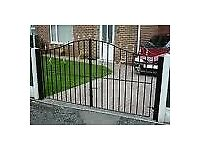 Hand made wrought iron gates and fences - made to measure and fitted