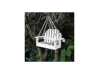 White Bench Shaped Hanging Garden Bird Feeder Delivery Available £12 NEW