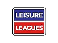5 a side football league, Ringwood Leisure Centre. Monday nights