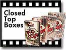 Popcorn Machine Supplies Closed Top Boxes 1cs 41557