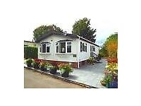 2 bedroom 2 reception bungalow, private location, open views at rear, on over 50's park near Lymm