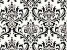 Damask Table Squares For Centerpieces Black and White 18