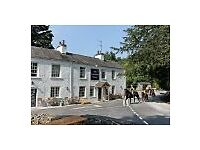 Live in or out Chef de Patie @ The Wheatsheaf in Brigsteer. Lake District