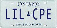 Personalized License Plate LIL CPE Kingston Kingston Area image 1