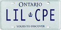 Personalized License Plate LIL CPE